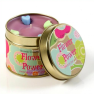 Flower Power Tin Candle
