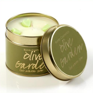 Olive Garden Tin Candle