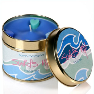 Surfs Up Tin Candle