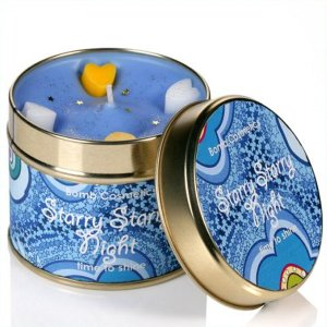 Starry, Starry Night Tin Candle